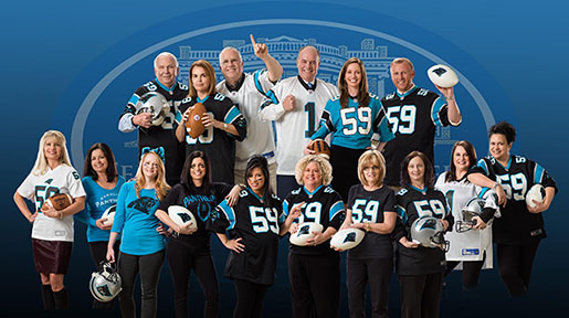 Our Shelby, North Carolina lawyers Teddy, Meekins & Talbert support the Carolina Panthers.
