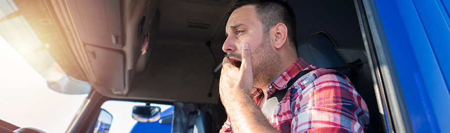 truck driver fatigued